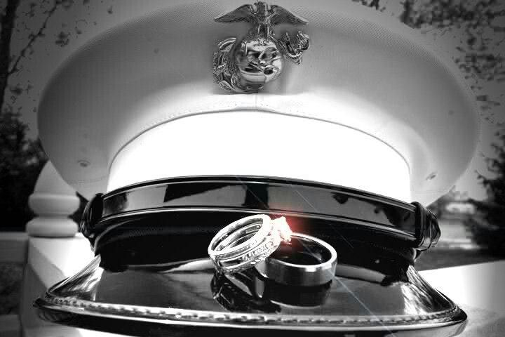 Another angle of the hat and ring shot. Great for West Point graduation day weddings!