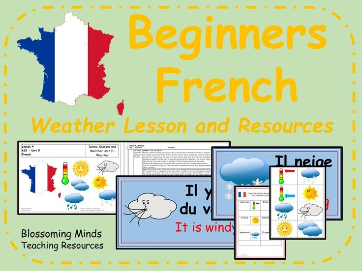 French Lesson and Resources Weather French lessons
