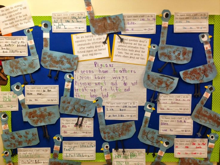 Chalk Talk: A Kindergarten Blog: The Pigeon Needs a Bath Instructions and Writing Freebie