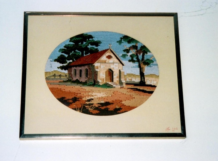 Tapestry of a country church