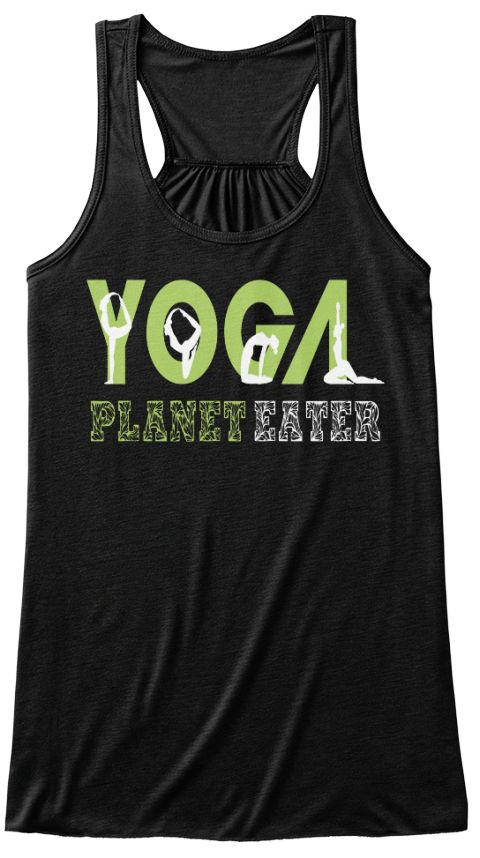 Yoga T Shirt Planet Eater Tank Top Black Women's Tank Top Front