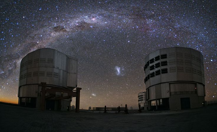 The magnificent Milky Way glitters over the Paranal Observatory atop Cerro Paranal in Chile's high Atacama Desert in this photo captured by ESO photo ambassador Yuri Beletsky. The image was released on Monday, Sept. 29, 2014.<br />