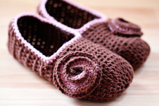 crochet slippers with tutorial