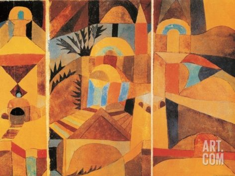 Il Giardino del Tempio Art Print by Paul Klee at Art.com - i just love this print.