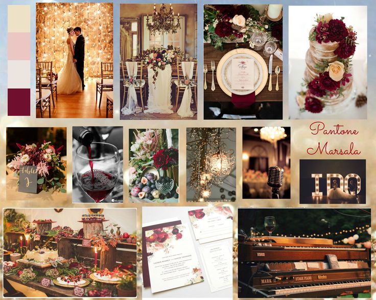 #Marsala features in this lovely wedding inspiration board designed by Jayden who is completing our Diploma in Wedding Planning Styling & Design course.