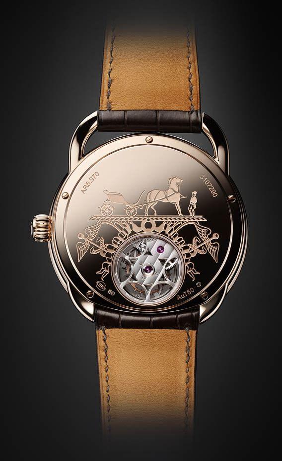 Hermès Arceau Lift Flying Tourbillon Rose Gold on Watch Agora