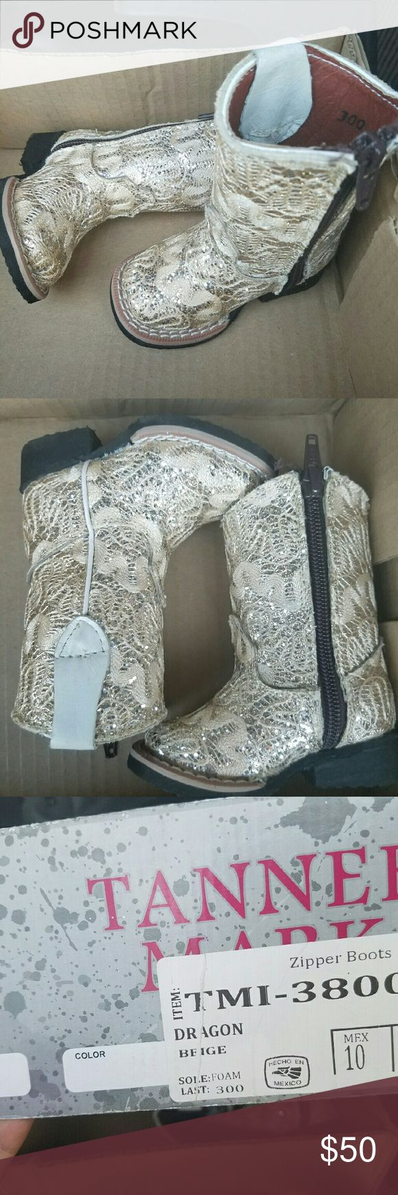 Tanner infant/toddler  cowboy boots Beautiful baby girl boots tanner Shoes Boots