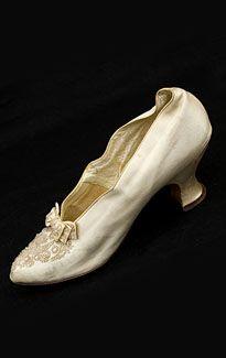 Vitorianos sapatos de contas