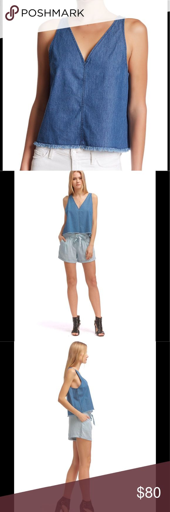 Walter Baker Spangler Top Sleeveless top. V-neck? Check. Denim? Check. The Spangler top has everything on your list! Walter Baker Tops Blouses