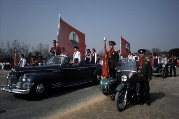 "Magnum Photos Photographer Portfolio - NORTH KOREA. 1987. Pyongyang. ""Children's Union"" celebration for Kim Il Sung's birthday. - Hiroji Kubota"