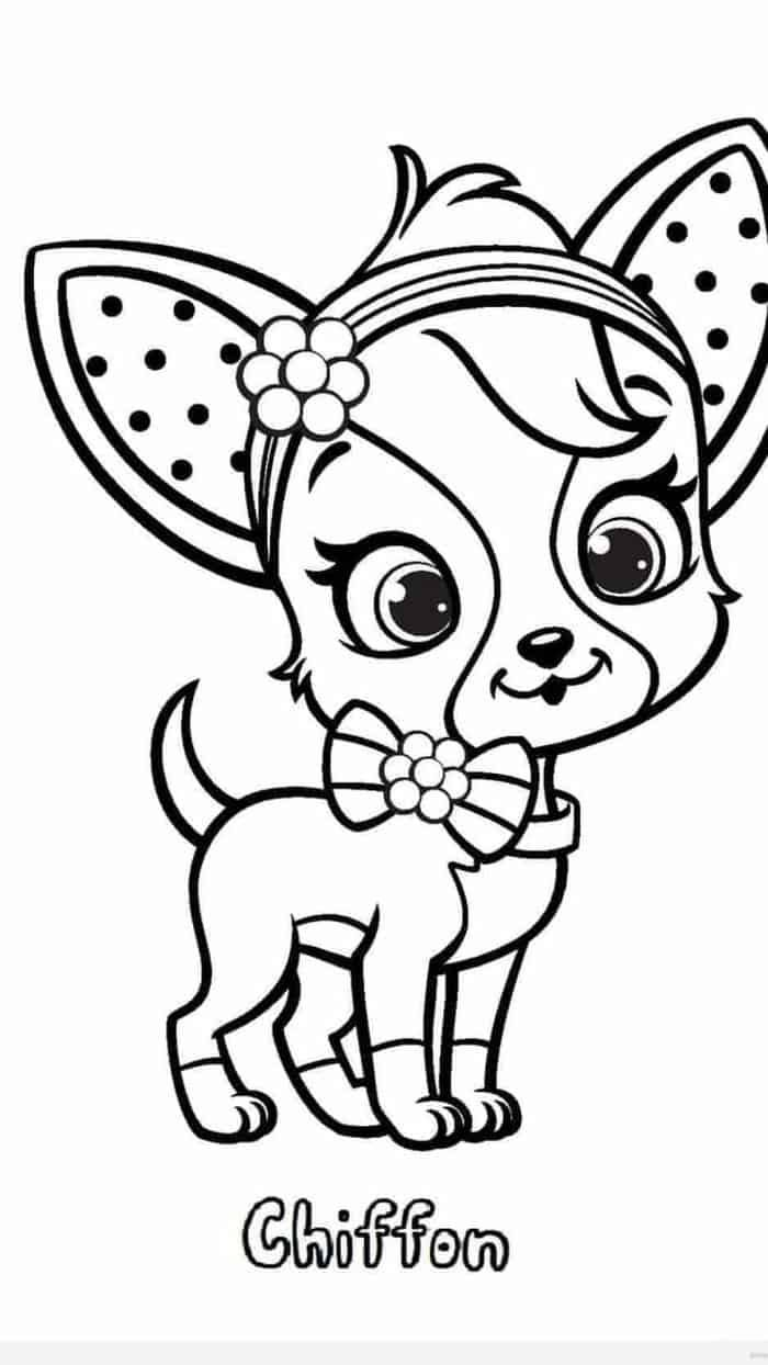 Chihuahua Dog Coloring Pages Puppy Coloring Pages Dog Coloring Page Strawberry Shortcake Coloring Pages