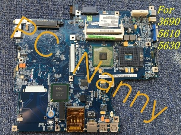 75.00$  Watch now - http://aligmf.worldwells.pw/go.php?t=32278673783 - MBAXY02004 HBL51 LA-3081P FOR Acer Aspire 3690 5610 5630 laptop motherboard 945GM DDR2 Integrated with good quality 75.00$