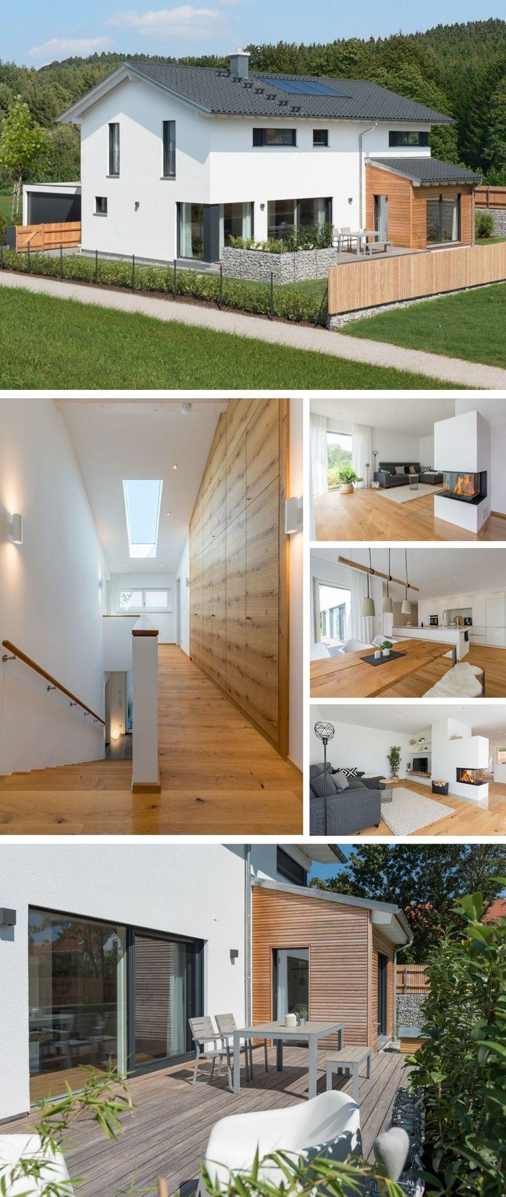 Modernes Landhaus im Alpenstil mit Garage, Holz Fa…