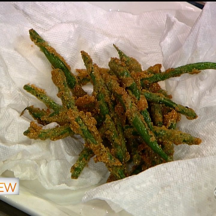 the chew | Recipe | Carla Hall's Fried Green Beans