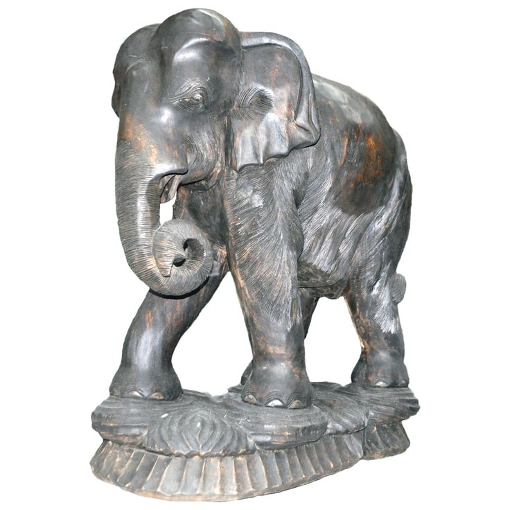 Hand Carved African Elephant   African wood carvings ... - photo#49