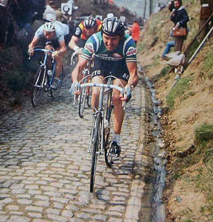 Giro delle Fiandre 1978, 9 aprile. Sint-Niklaas > Meerbeke. Koppenberg. Roger De Vlaeminck (1947)