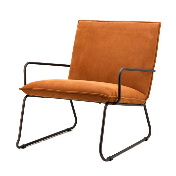 Fauteuil Delta Cognac. Vernieuw uw interieur met deze stoel in trendy kleur cognac.