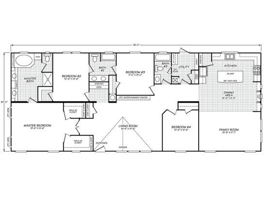 Canyon Lake 32764k Fleetwood Homes Manufactured Homes