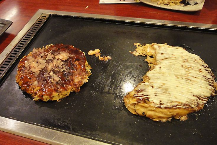 Okonomiyaki is a cross between a pancake and an omelette and consists of flour, eggs, cabbage and your choice of toppings, such as pork, shrimp, mayonnaise and fish flakes. We dined at an okonomiyaki restaurant in Kyoto called Nishiki Warai.