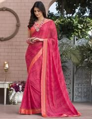 Pink Color Georgette Party Wear Sarees : Priyush Collection YF-64753