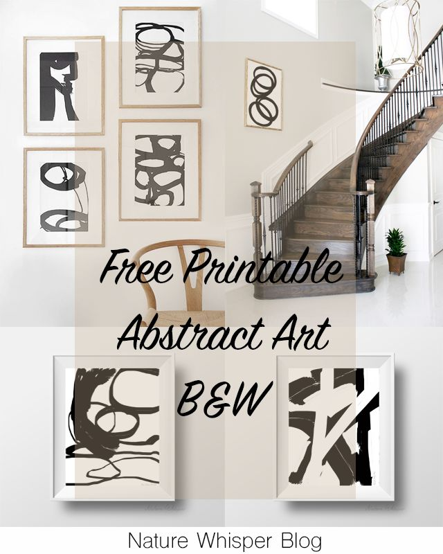 Freebies: 7 B&W Abstract Art | NATURE WHISPER