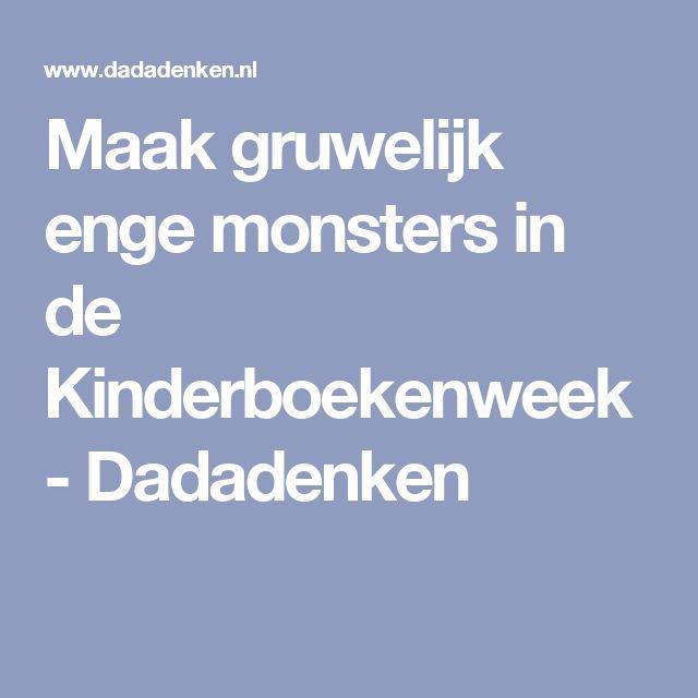 Maak gruwelijk enge monsters in de Kinderboekenweek - Dadadenken