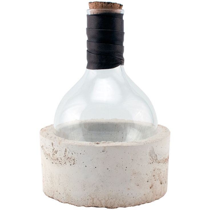 Rock Bottom Vessel - Parchment Base with custom scripting from studio50 concrete base with 1000ml round bottom flask