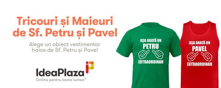Noi Modele de Tricouri si Maieuri Personalizate cu ocazia Sfintilor #Petru si #Pavel --- http://goo.gl/evGHkG