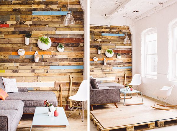 DIY Idea: Make a Reclaimed Wood Planter Wall - 99 Best Reclaimed Wood Images On Pinterest