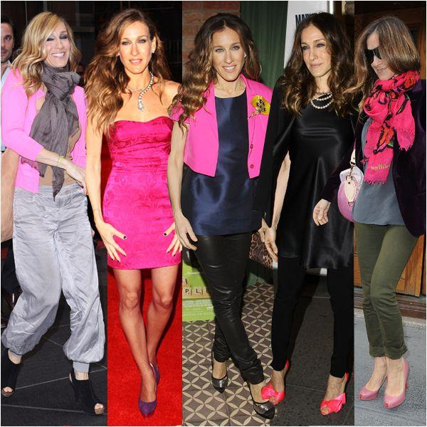 Qualcosa di fucsia. Dettagli di moda irrinunciabili, il fucsia è la sua piccola mania. Lo sceglie per un tubino da red carpet, per dettagli che accendono gli outfit e per le sue famose scarpe.