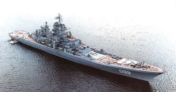 Pyotr Velikiy is a heavy nuclear-powered cruiser (TAKR), the fourth Kirov class battlecruiser of the Russian Navy. She is the flagship of the Northern Fleet.  This ship was very active in 2008-2010, she participated in naval exercises with the Venezuelan Navy in 2008. In 2009, she had a joint naval exercise with the Indian Navy, and then INDRA-2009 exercise. She captured some pirates off the coast of Somalia in the same year.