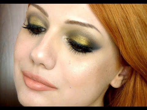 Trucco marrone e oro scuro - VideoTrucco