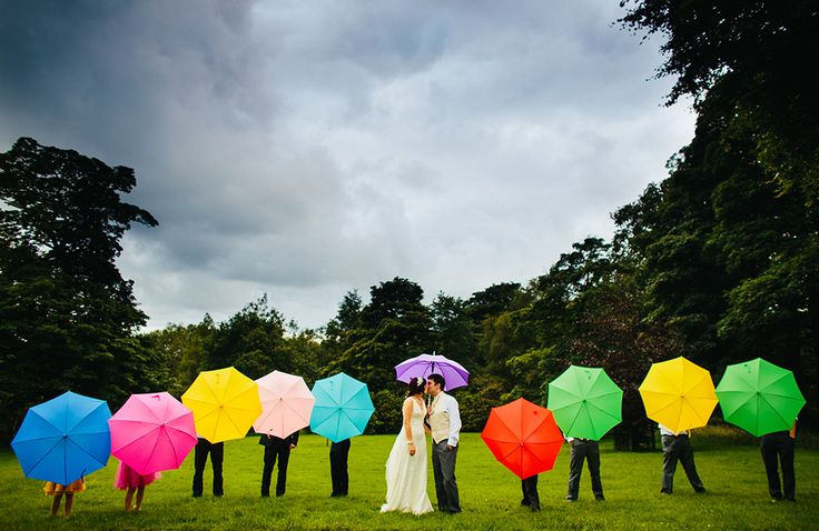 Brollies from Brolly Bucket. Just like it says on the tin. Worried about the rain on your wedding day? Save on the expense and hassle of purchasing umbrellas and hire them in an array of colours and pretty styles instead.
