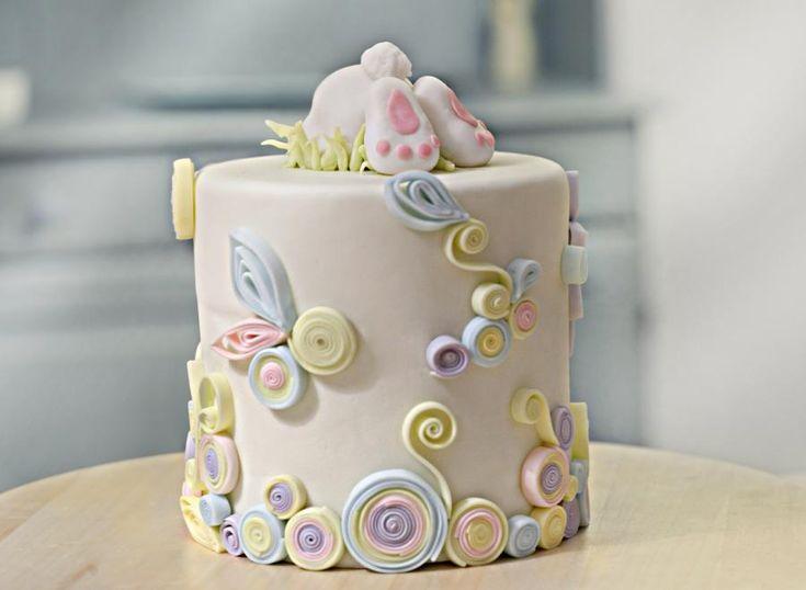 Easter fondantcake by Die Zuckerei