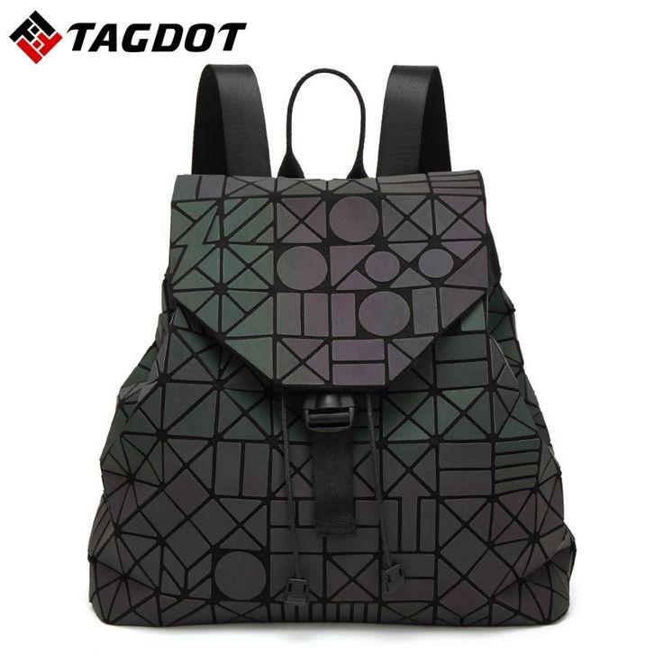 34.36$  Watch now - http://alixki.shopchina.info/1/go.php?t=32794992622 - New Fashion lightning Luminous BaoBao backpack female Girl Daily backpack Geometry Chord Folding Bags school backpacks With logo 34.36$ #aliexpresschina