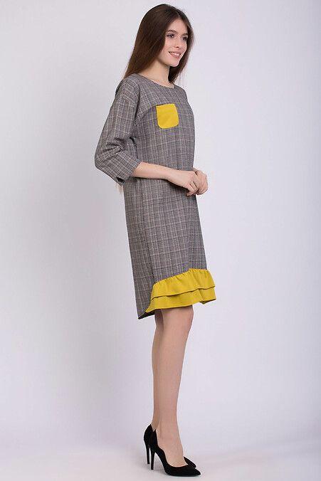 fdf9c44c8eb Трикотажное платье FELI в клетку с асимметричным низом