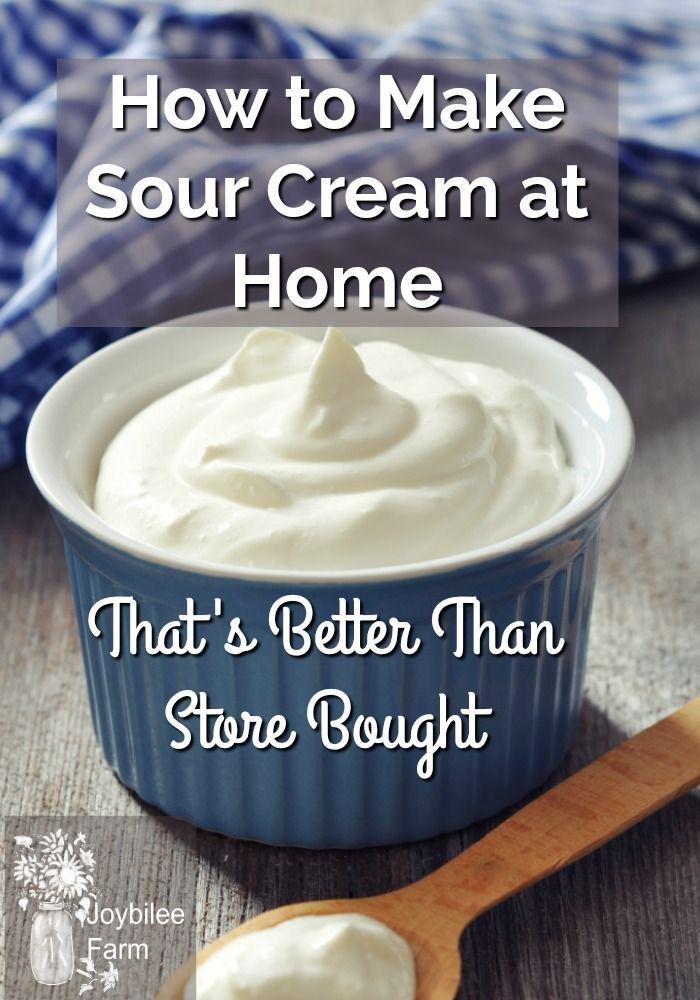 How To Make Sour Cream At Home Joybilee Farm Recipe In 2020 Make Sour Cream Homemade Sour Cream Sour Cream