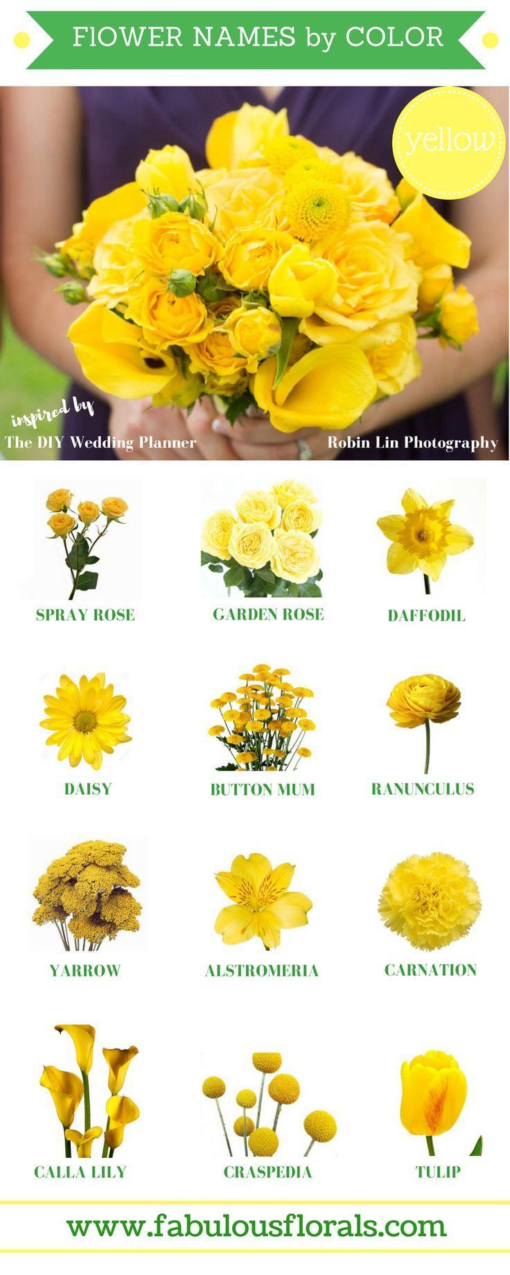 Gorgeous Yellow Wedding Flower Trends Yellowflowers Http Howtodiyweddingflowers Com Utm Content Yellow Wedding Flowers Yellow Flowers Names Yellow Flowers