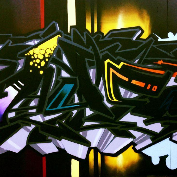A piece to get the whole neighbourhood talking.  #aerosolart # Graffiti #piece #design #colour #color #mural