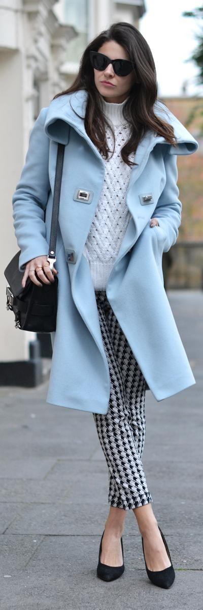 Pastel blue coat♥✤ | KeepSmiling | BeStayClassy