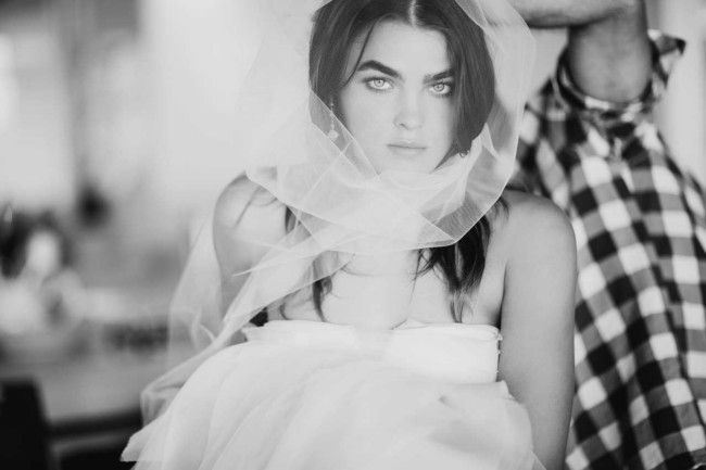 Tulle. Vogue Brides editorial with Bambi Northwood-Blyth and Dan Single.  Image: Nicole Cooper.