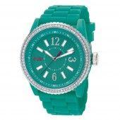 EDC by Esprit Uhr Armbanduhr Damen Discoglam Envy grün EE101032004