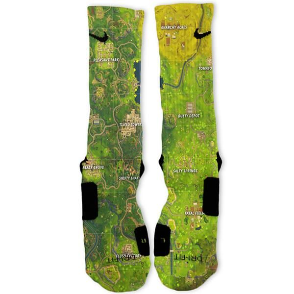quality design 0a49a 9059f Fortnite Map Custom Nike Elite Socks  These would be perfect for soccer..  (Hint hint wink wink)