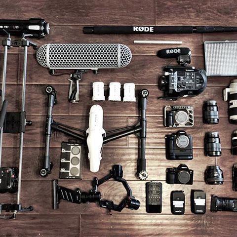 @satostudios ・・・ SEMA 2015 prep in progress! This years gear list Sony 4K team fs-7, a7sii, a7rii DJI inspire1, ronin-m, OSMO @cinevate Duzi V3 @cametv single aprature led Ilan spot led @yuneecego e-go electric skateboards @switronix pb-70 battery eliminator and pro-x v mount zoom h6 recorder @rodemic NTG-3, rodelink film maker kit, videomic pro, boom and blimp. Lenses: Sony 16-35, 24-70 canon 14, 50, 135, 70-200ii.... #sema2015 #sema #ronin #rode #rodemic #switronix #djiinspire #inspire…