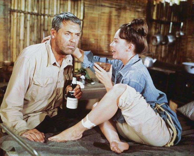 B'day celebrant Leslie Caron with Cary Grant in Father Goose (1964)
