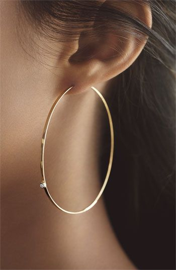 Lana Jewelry Large Flat Magic Diamond Hoop Earrings Accessories In 2018 Pinterest And