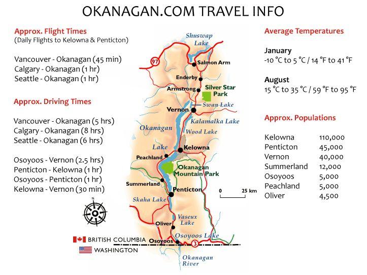 Okanagan Valley Maps