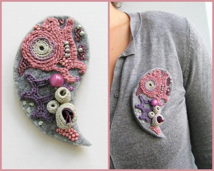 Freeform crochet appliques + Felt {КРАСОТА С ПРОСТОРОВ ИНТЕРНЕТА. Комментарии : LiveInternet - Российский Сервис Онлайн-Дневников}