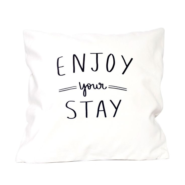 Enjoy Your Stay Velveteen Pillow Cover by Dayna Lee Collection