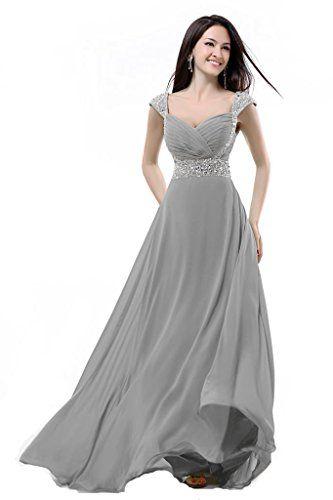 Balllily Women's Bridesmaid Dress Size 4 Silver Grey